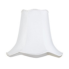 Litecraft - 16 Inch Easy to Fit Scalloped Shade - Ivory