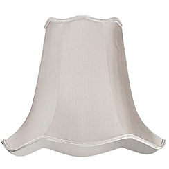 Litecraft - 16 Inch Easy to Fit Scalloped Shade - Soft Grey