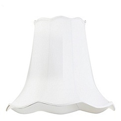 Litecraft - 18 Inch Easy to Fit Scalloped Shade - Ivory