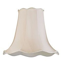 Litecraft - 18 Inch Easy to Fit Scalloped Shade - Sand
