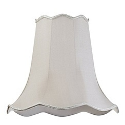 Litecraft - 18 Inch Easy to Fit Scalloped Shade - Soft Grey