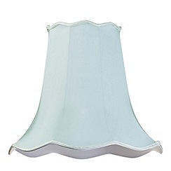 Litecraft - 18 Inch Easy to Fit Scalloped Shade - Duck Egg