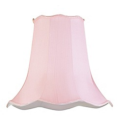 Litecraft - 18 Inch Easy to Fit Scalloped Shade - Pale Pink