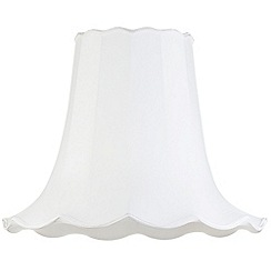 Litecraft - 20 Inch Easy to Fit Scalloped Shade - Ivory