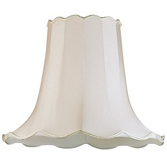 Litecraft - 20 Inch Easy to Fit Scalloped Shade - Sand