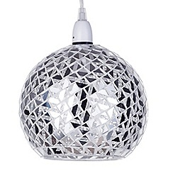 Litecraft - 1 Light Mosaic Easy to Fit Ceiling Pendant Shade - Silver