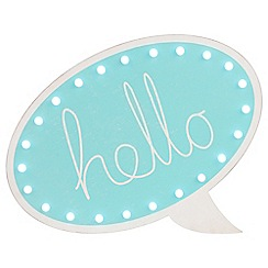Litecraft - Hello Speech Bubble Wall Light - Blue
