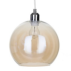 Litecraft - Glass Bowl 1 Light Pendant Shade - Champagne