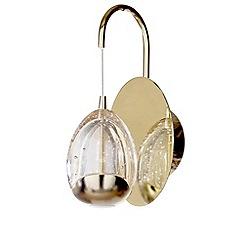 Litecraft - Tegg 1 Light LED Water Drop Wall Pendant - Gold