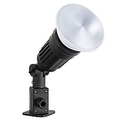 Litecraft - Outdoor Garden Spike Light with 15 Watt LED PAR38 Light Bulb - Black