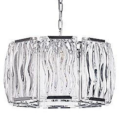 Litecraft - Kent 4 Light Ceiling Pendant - Chrome