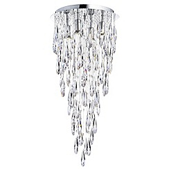 Litecraft - Marquis by Waterford - Deel 4 Light Flush Bathroom Ceiling Light - Chrome
