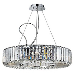 Litecraft - Marquis by Waterford - Foyle 8 Light Bathroom Ceiling Pendant - Chrome