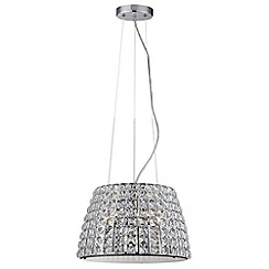Litecraft - Marquis by Waterford - Moy Large Bathroom Ceiling Pendant - Chrome