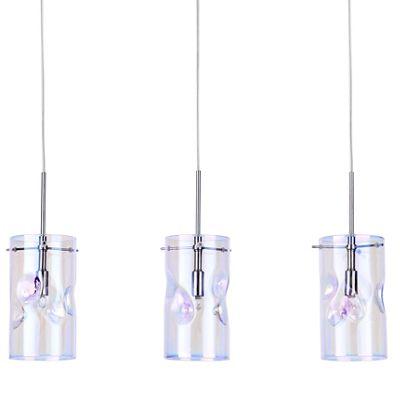 Litecraft Perla 3 Light Petroleum Tinted Glass Ceiling