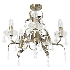 Litecraft - Romeo 5 Light Chandelier - Antique Brass