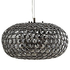 Litecraft - 3 Light Glass Mesh Ceiling Pendant - Smoke