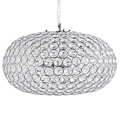Litecraft - 3 Light Glass Mesh Flush Pendant Light - Clear