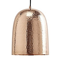 Litecraft - 1 Light Copper Dome Ceiling Pendant - Copper