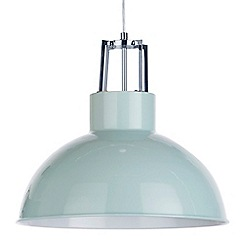 Litecraft - 1 Light Industrial Parabolic Ceiling Pendant - Duck Egg