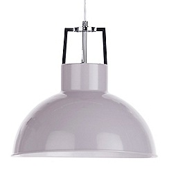 Litecraft - 1 Light Industrial Parabolic Ceiling Pendant - Grey