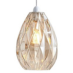 Litecraft - Glass Embossed Easy to Fit Ceiling Shade - Champagne