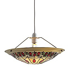 Litecraft - Tiffany Easy to Fit Shallow Dish Uplighter Shade - Multi-coloured