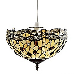 Litecraft - Tiffany Easy to Fit Deep Dish Uplighter Ceiling or Lamp Shade - Multi-coloured