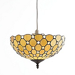 Litecraft - Tiffany Easy to Fit Deep Dish Uplighter Ceiling or Lamp Shade - Honey