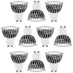 Litecraft - 10 Pack of 5 Watt Dimmable GU10 LED Light Bulb - Warm White