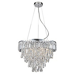 Litecraft - Marquis by Waterford - Bresna LED 6 Light Bathroom Ceiling Pendant - Chrome