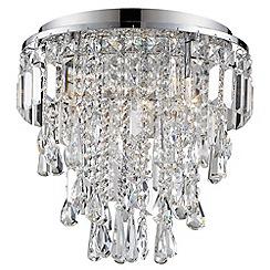 Litecraft - Marquis by Waterford - Bresna LED 5 Light Bathroom Flush Ceiling Light - Chrome
