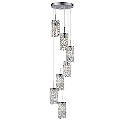Litecraft - Marquis by Waterford - Lagan LED 7 Light Cascading Bathroom Ceiling Pendant - Chrome