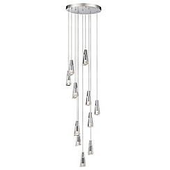 Litecraft - Marquis by Waterford - Glyde LED 7 Light Bathroom Ceiling Pendant - Chrome