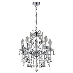Litecraft - Marquis by Waterford - Annalee Large LED 5 Light Bathroom Chandelier - Chrome