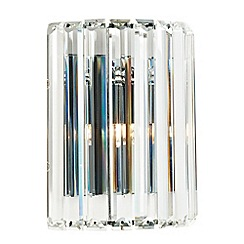 Litecraft - 1 Light Prism Bar Wall Light - Chrome