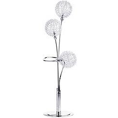 Litecraft - Allium 3 Light Table Lamp - Chrome