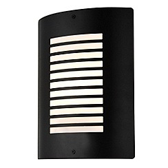 Litecraft - Sigma 1 Light Outdoor Slat Wall Lantern - Black
