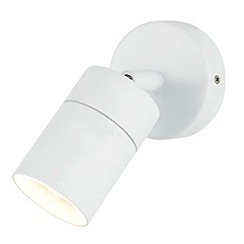 Litecraft - Kenn 1 Light Adjustable Outdoor Wall Light - White