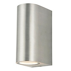 Litecraft - Irwell 2 Light Up and Down Outdoor Wall Light - Stainless Steel