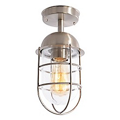 Litecraft - Cari 1 Light Caged Outdoor Lantern - Stainless Steel