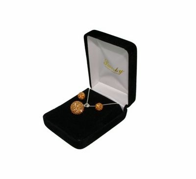 Ladies Sterling Silver Shamballa Giftset