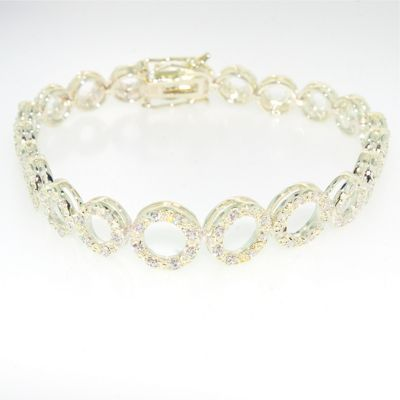 Ladies Sterling Silver And Cubic Zirconia Bracelet