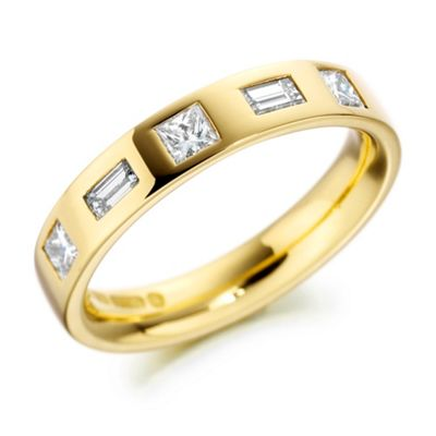 Clarity Mens 4mm,9ct yellow gold 0.56ct diamond set product image