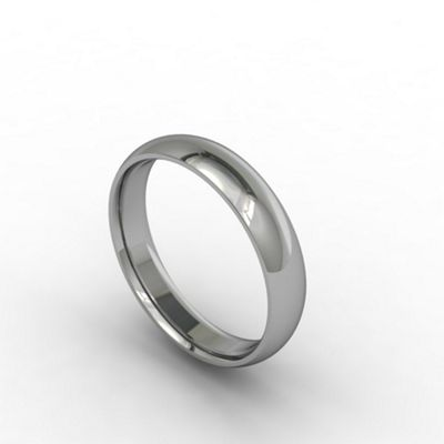 Carity 18ct white 4mm court - . -
