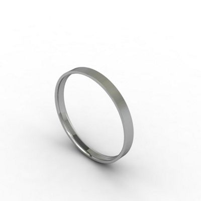 Carity 18ct white 2mm fat court - . -