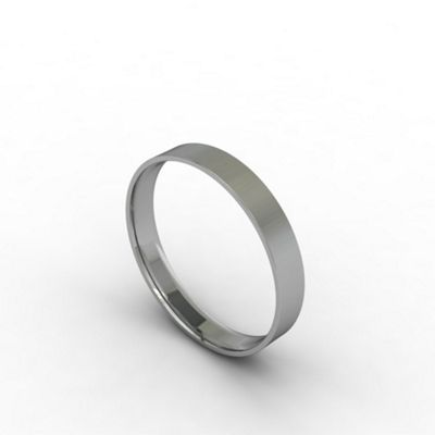 Carity 18ct white 3mm fat court - . -