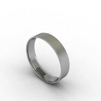 Carity 18ct white 4mm fat court - . -