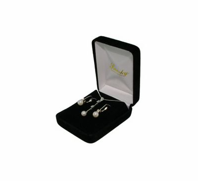 Ladies Sterling Silver And Pearl Giftset