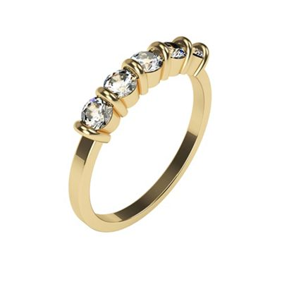 Carity 9ct 5 Stone Moissanite Ring - . -